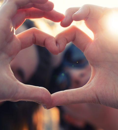 Best Girlfriends Making Heart Shaped Hands