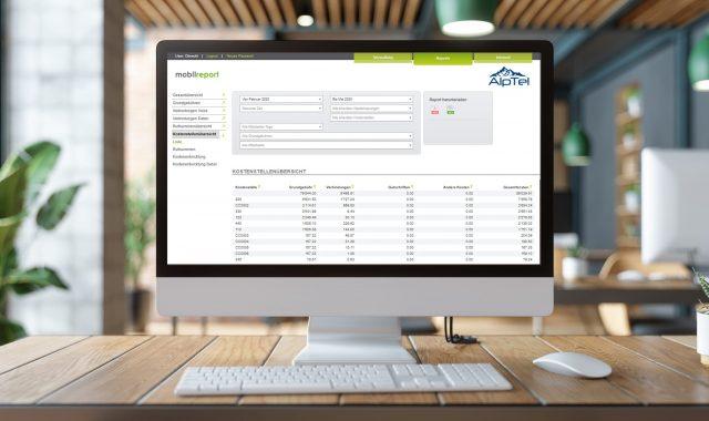 Tool mobilreport by Alptel zur Analyse der Mobile Nutzung und Kosten im Unternehmen