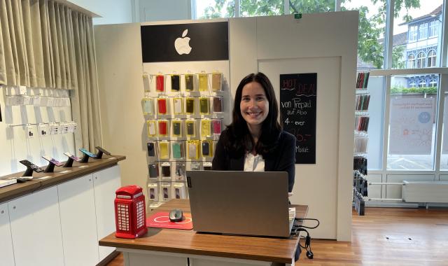 Janina Sempf, Store Manager in der Alptel-Filiale in Kreuzlingen